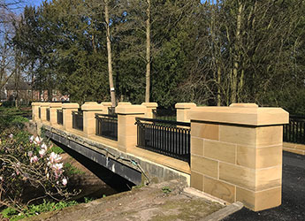 Bespoke stone for luxury property development - bridge